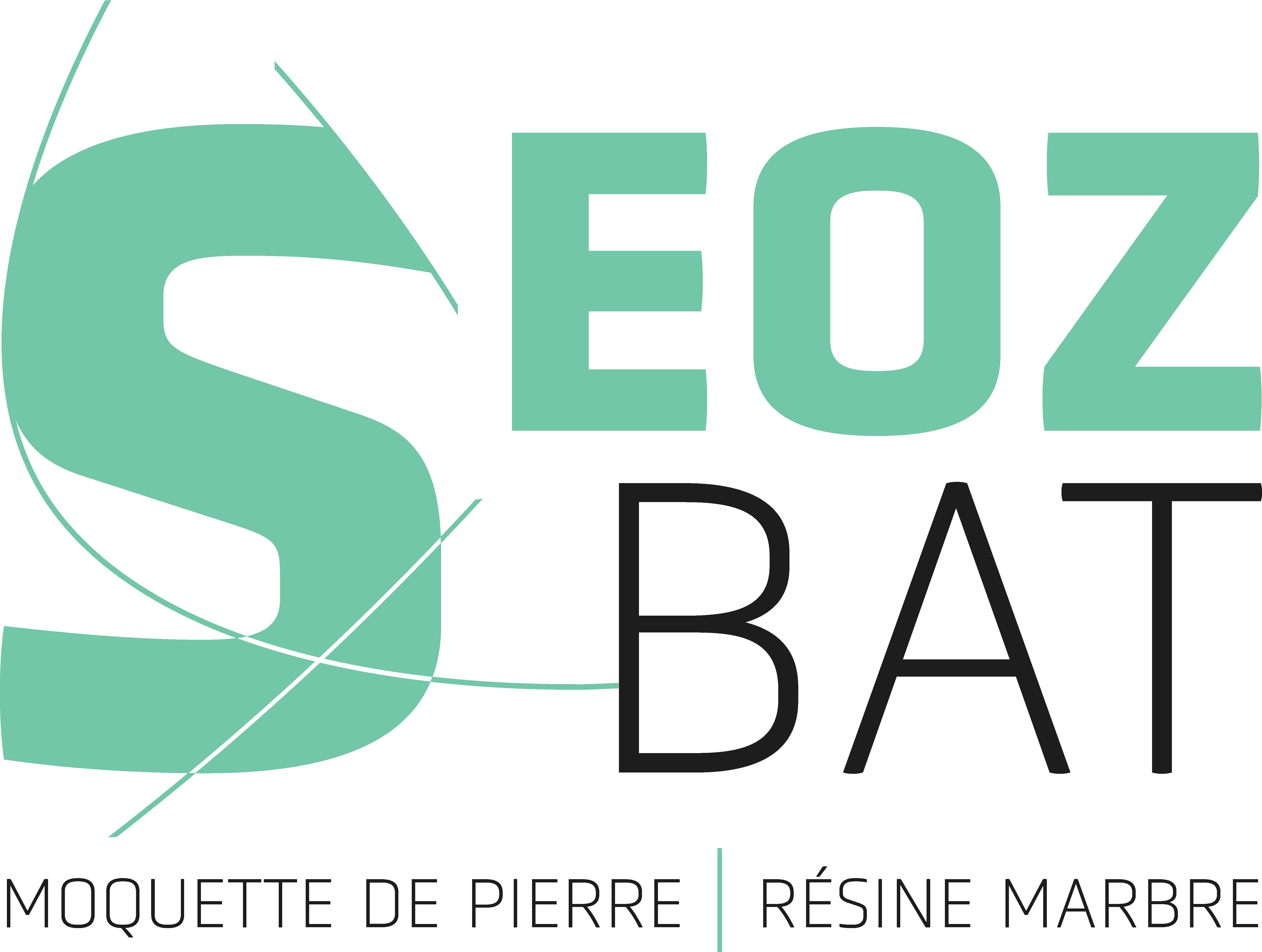 resine de marbre moquette de pierre logo Seoz Bat